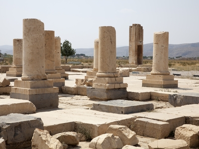 The ruin of ancient city of Pasargadae in Iran