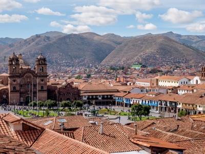 Cuzco colonial town Peru