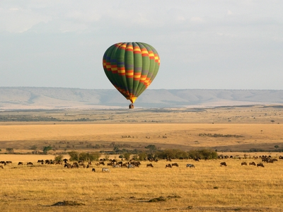Hot air ballon Massai Mara Wild Game Kenya Africa Safari