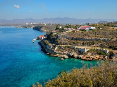 Cuban coast line Caribbean water sail ship cruise luxury travel