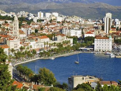 Split Croatia port town boat city buildings dock bay adriatic sea dalmatian coast travel