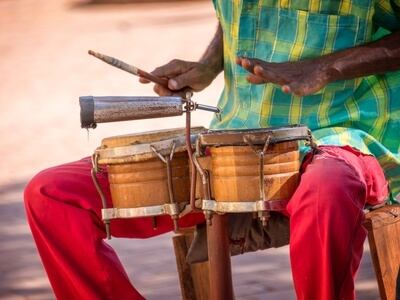 Musician drummer Cuba Santiago de Cuba music rhythm dance