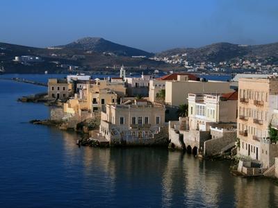 Syros Greece cyclades islands city capital agean sea water travel