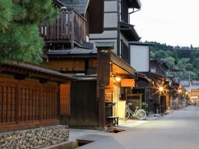 Traditional houses in old city area,Takayama