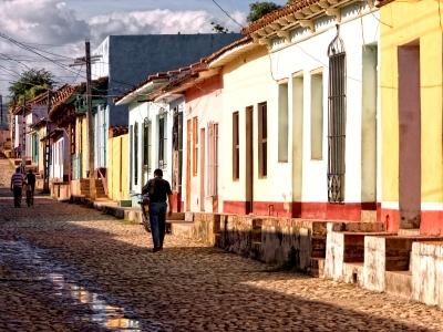 Trinidad Streets Colors Cuba Cobblestone Old