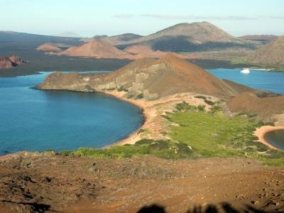 View from Bartolome Island, Galapagos, Ecuador.400x300