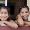 Smiling cuban girls