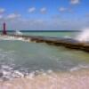 Ocean pier in Varadero, Cuba