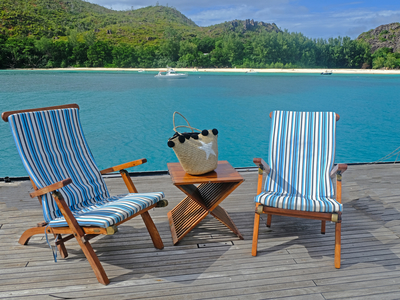 Sundeck aboard the m/y pegasus lounge chairs sunbath relax cruise kenya seychelles vacation