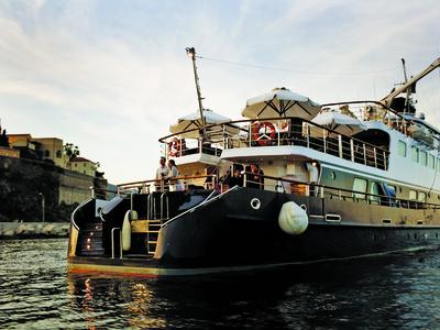 M/Y callisto swimming platform stern yacht cruise Iceland