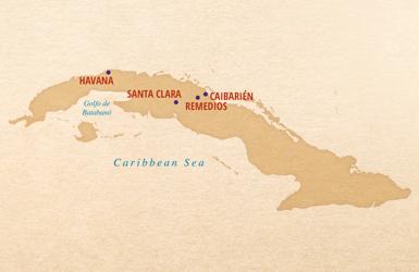 map of cuba vintage cuba remedios caibarien santa clara