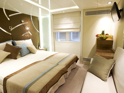 Category A Cabin M/Y Voyager cruise cuba mega yacht luxury room