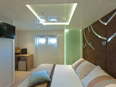 Cabin category B M/Y Voyager mega yacht luxury cruise Cuba