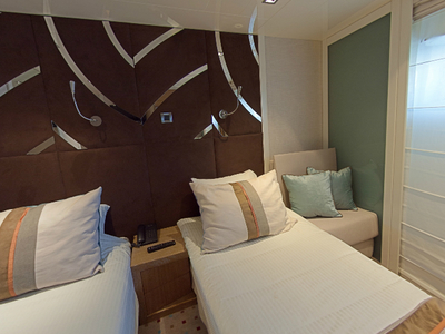Category C cabin M/Y Voyager cruise cuba mega yacht luxury room