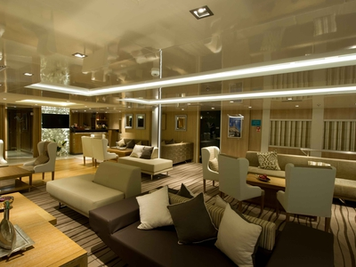 Main lounge and reception area on the Riviera Deck